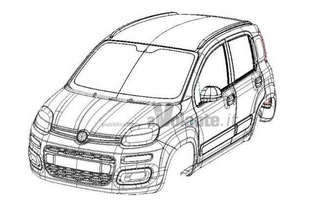 nuova fiat panda 2012  frontale e posteriore definitivi