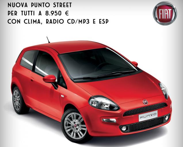 Fiat Punto Street 8.950 euro